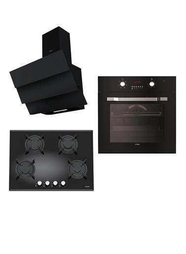 VİNOLA Vinola Set 036 (MOG.7020.111.01 + MOFA.501.111.01  + MCWB128.111.600) Siyah Ankastre Set Renkli